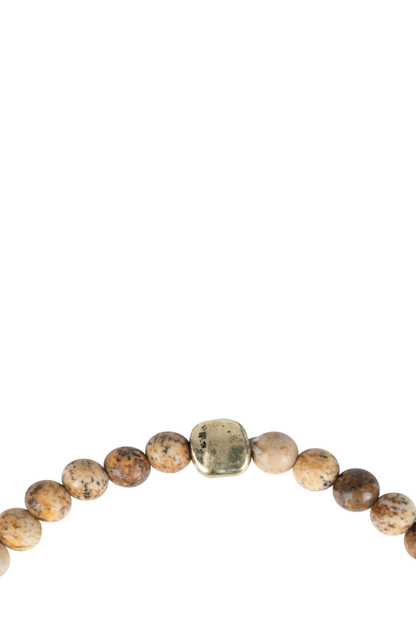 Zusss armband marmerkraal - bruin
