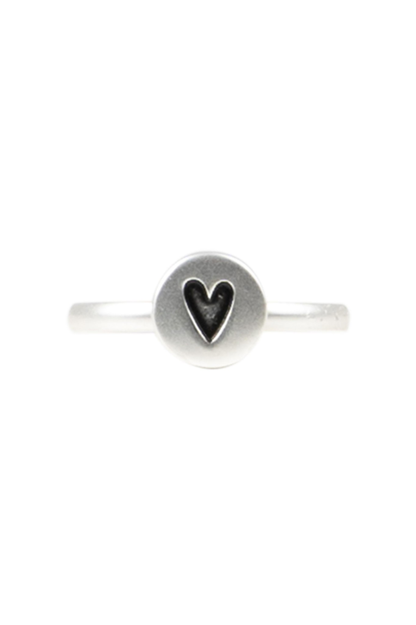 Zusss Ring hartje - zilver