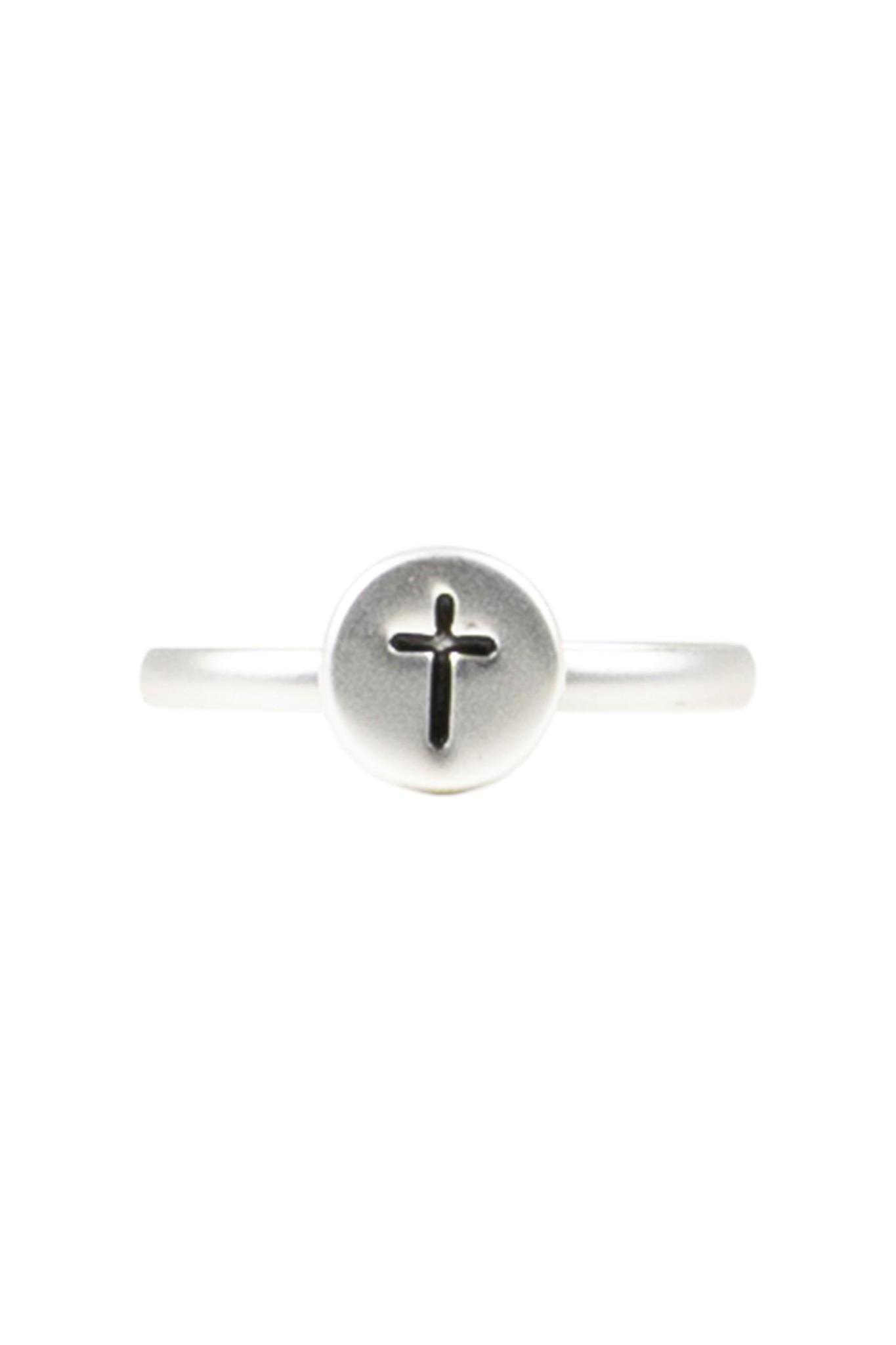 Zusss Ring kruisje - zilver