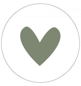 Label-R Muurcirkel hartje groen - 40cm