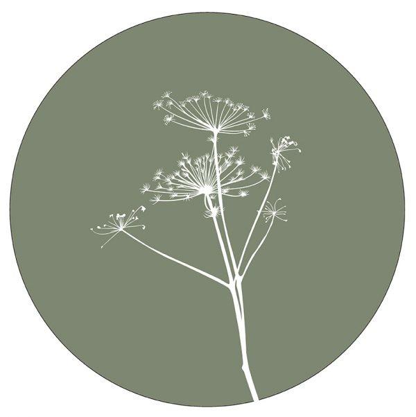 Label-R Muurcirkel berenklauw groen - 40cm