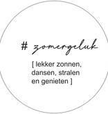Label-R Muurcirkel zomergeluk wit - 40cm
