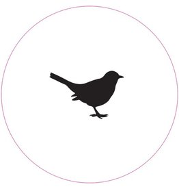 Muurcirkel vogel zwart - 40cm