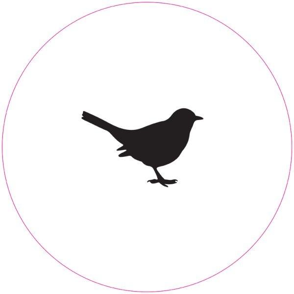 Label-R Muurcirkel vogel zwart - 40cm
