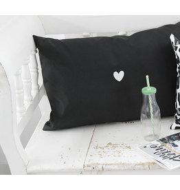 Label-R Outdoor kussen druk op pauze zwart  - 60x40cm