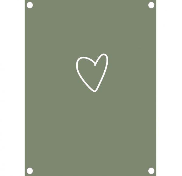 Tuinposter hart groen - 60x80cm