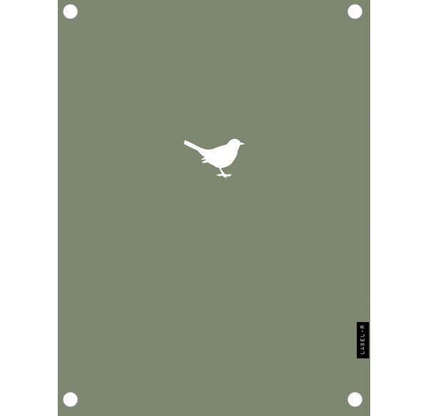 Tuinposter vogeltje groen - 60x80cm