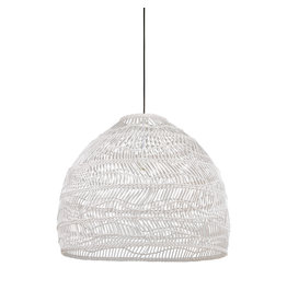 HK Living Wicker hanglamp M - wit