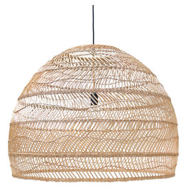 HK Living Wicker hanglamp L - naturel