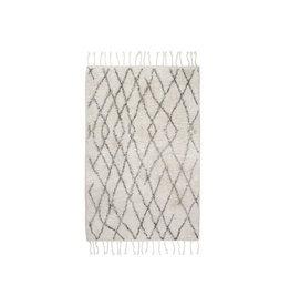 HK Living Badmat 60x90cm - creme/grijs