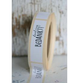 Rechthoekige sticker 'heel erg BEDANKT', 10 st
