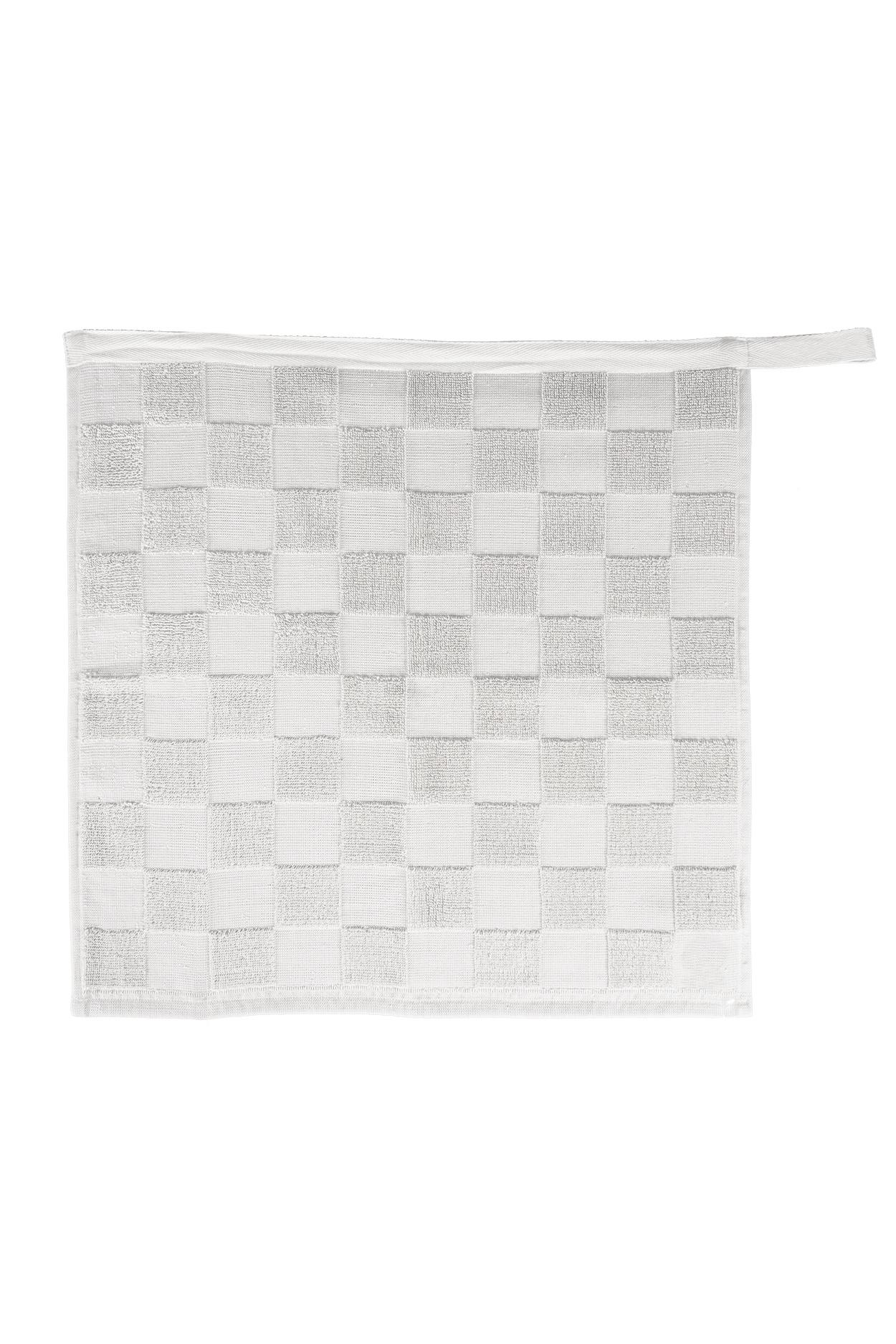 Zusss Handdoek geblokt wit 50x50cm