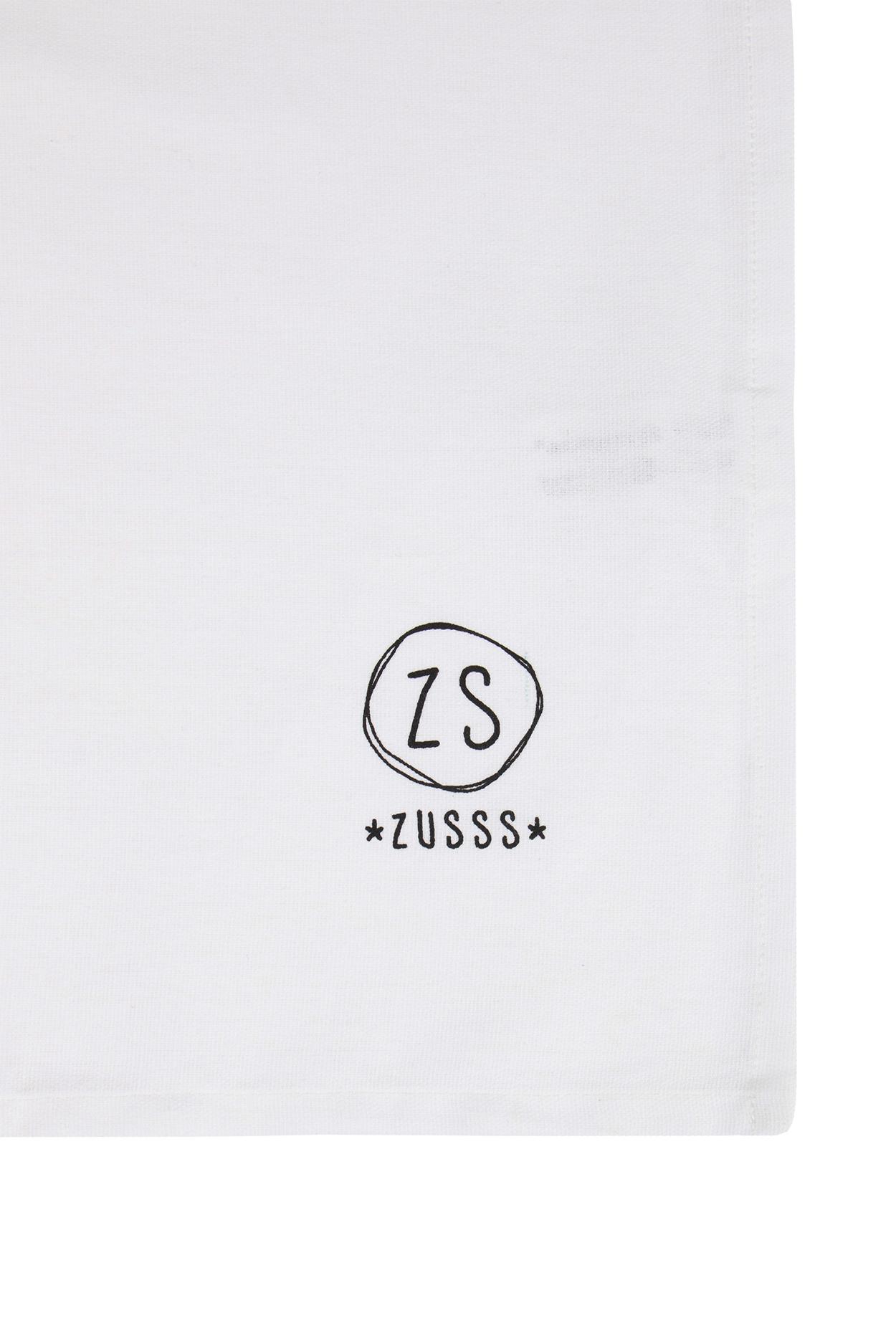 Zusss Theedoek 'geniet' wit 50x70cm