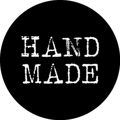 Ronde kadosticker handmade zwart, 10st
