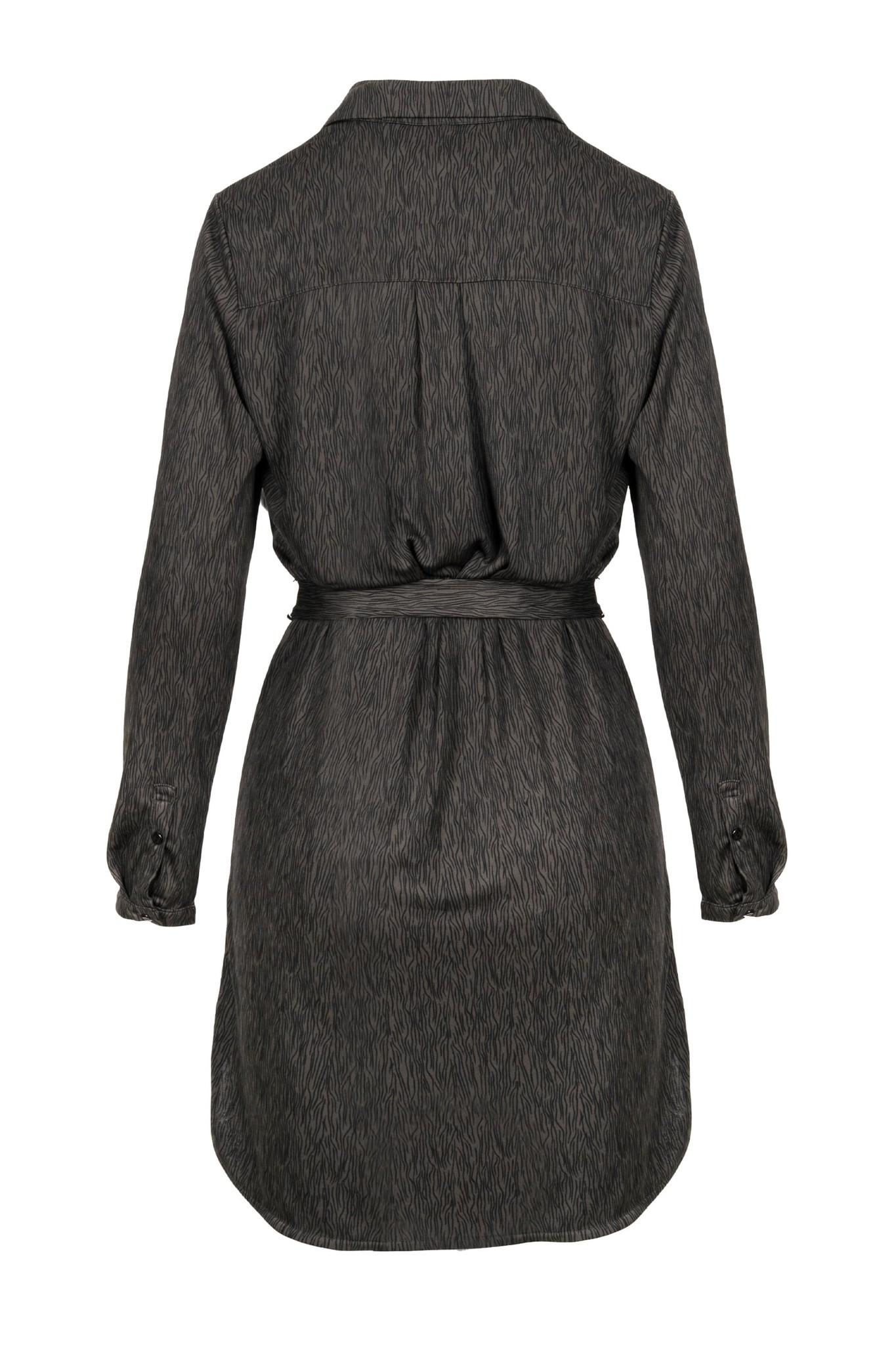 Zusss blouse jurkje met print - grafietgrijs