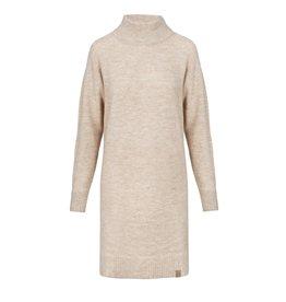 Zusss gebreide jurk met col - zand