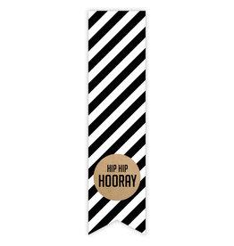 Etiket label sticker hip hip hooray, 10 st