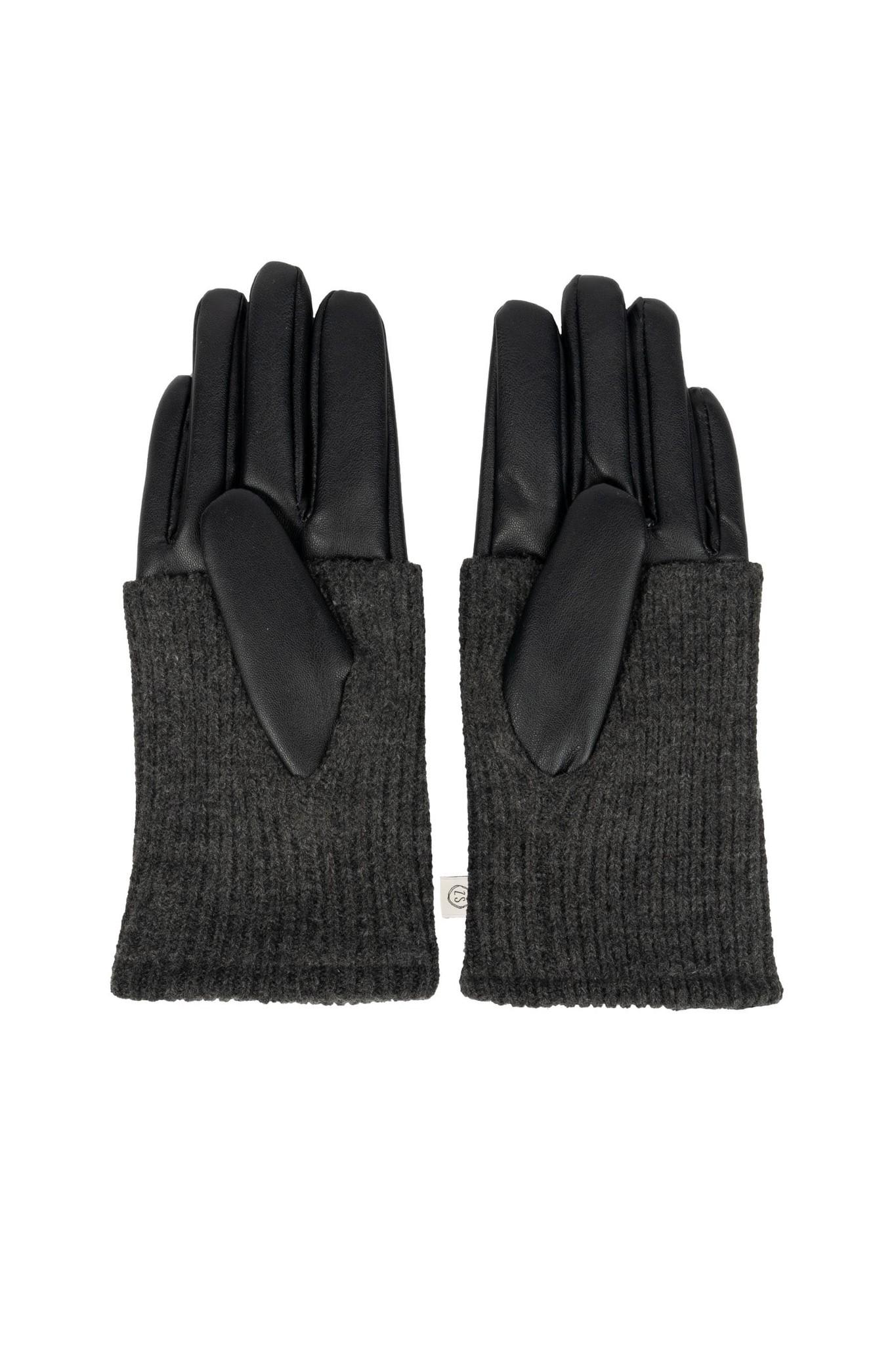 Zusss stoere handschoenen - zwart/grafiet