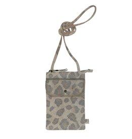 Zusss handig telefoontasje - leopard