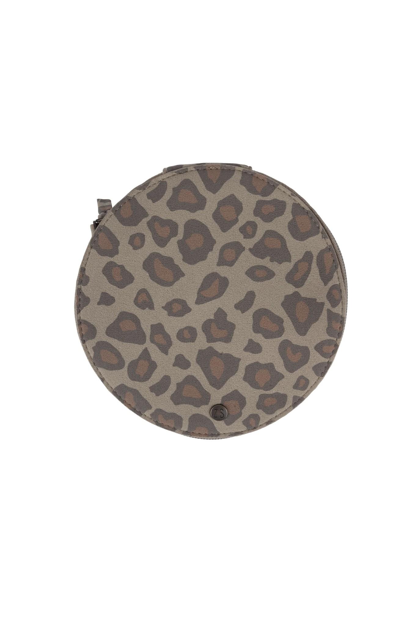 Zusss Make up tasje rond - leopard