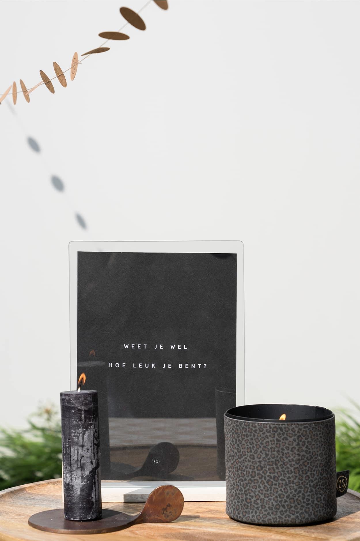 Zusss Stompkaars R4,5cm - zwart
