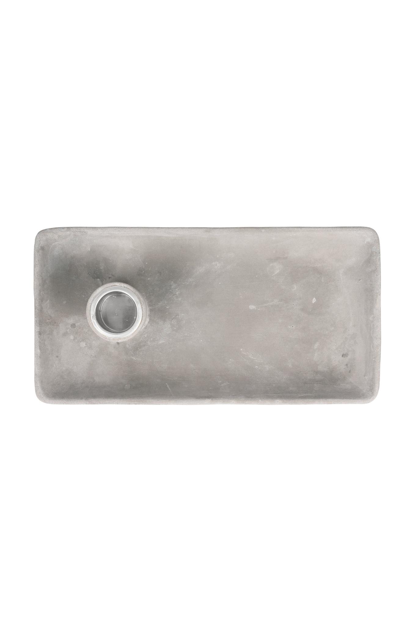 Zusss Kandelaar met blad beton