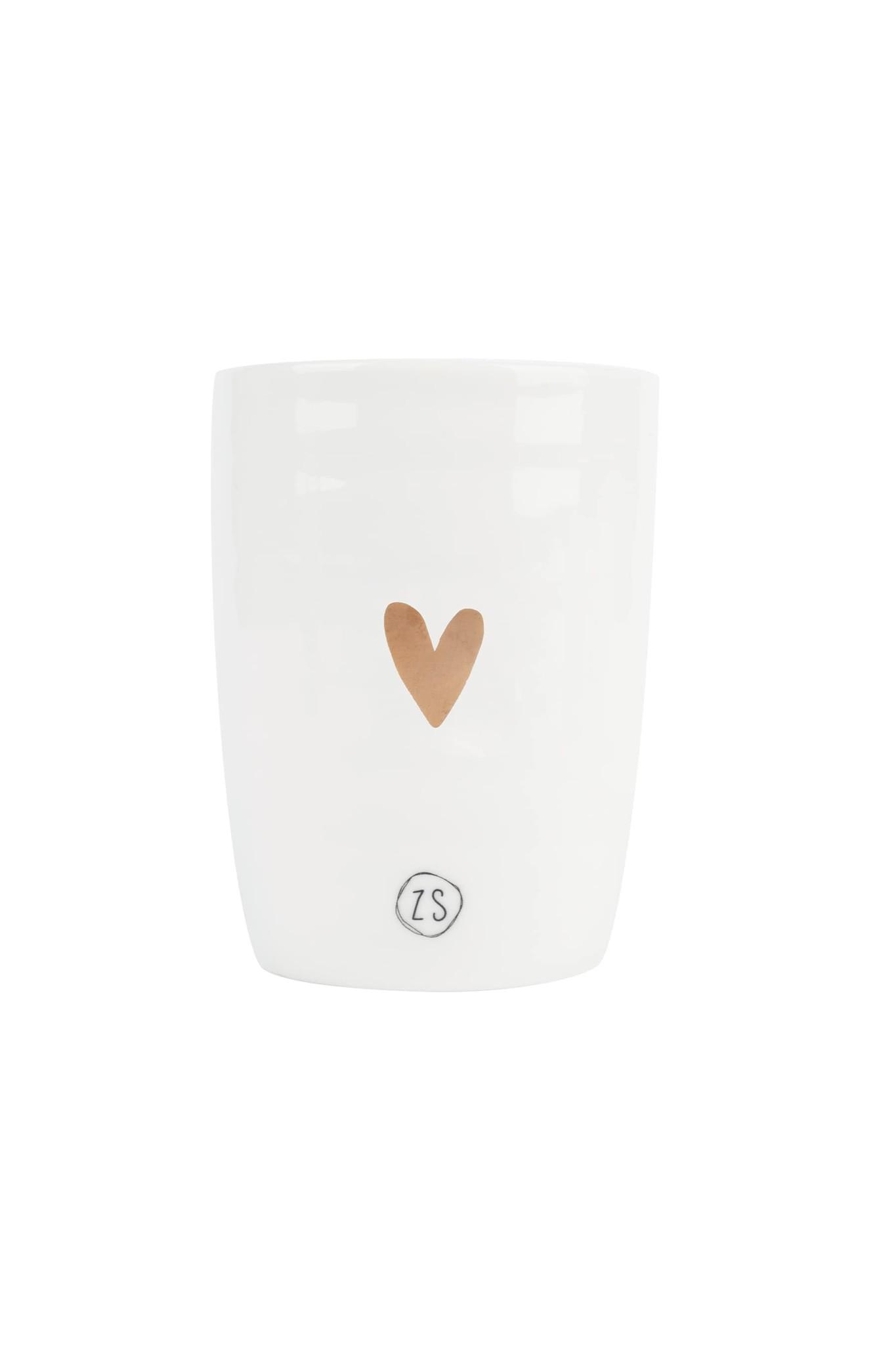 Zusss Koffiemok goud hartje