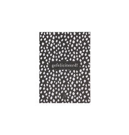 Zusss kaart  gefeliciteerd - zwart/wit