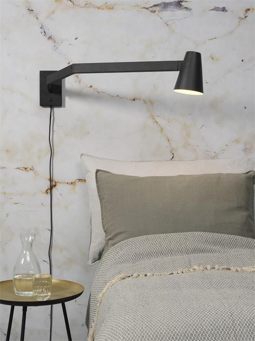 It's about RoMi Biarritz wandlamp - zwart