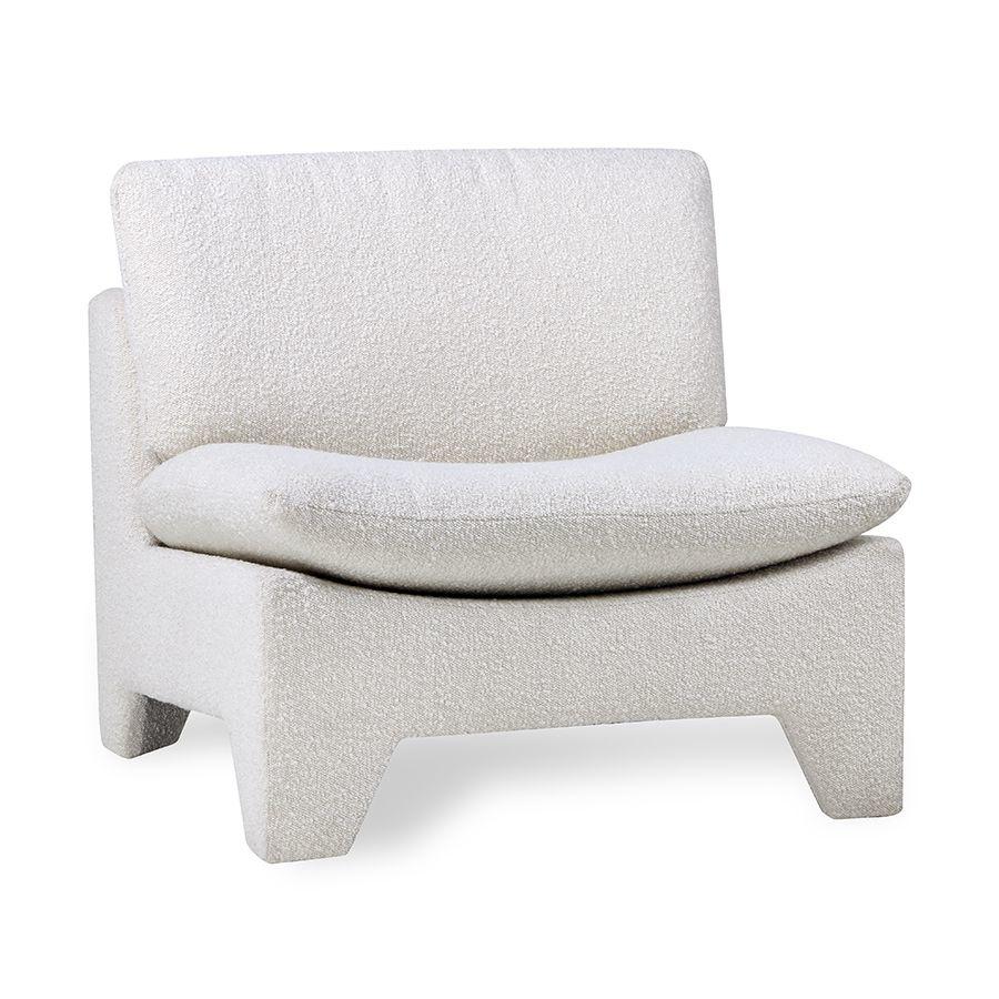 HKliving Retro lounge fauteuil boucle - cream