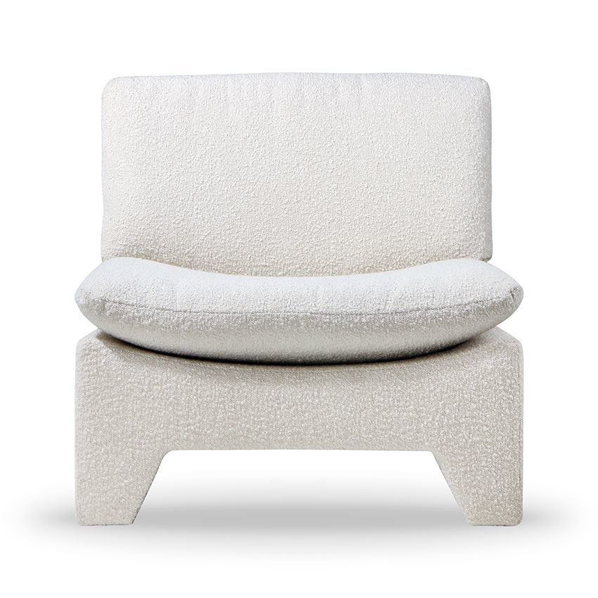 HK Living Retro lounge fauteuil boucle - cream
