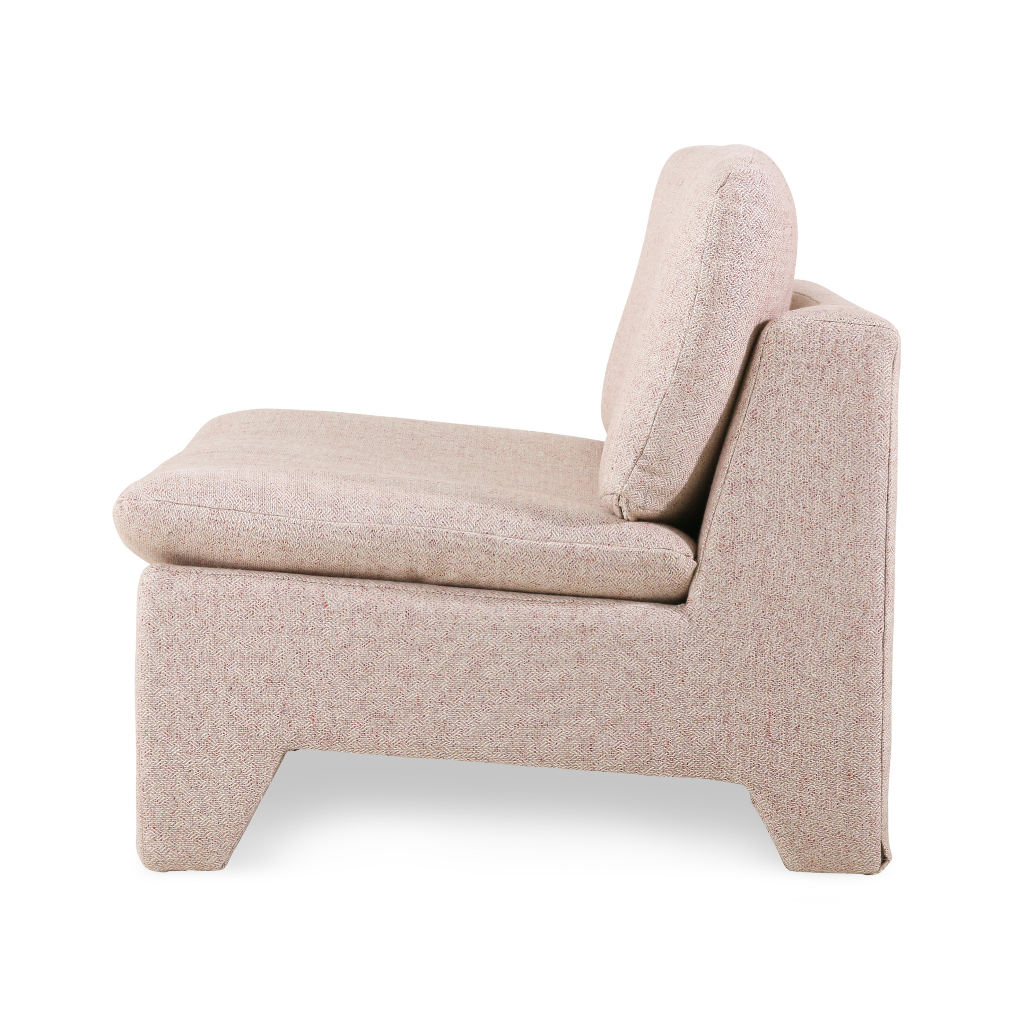 HK Living Retro lounge fauteuil - nude melange