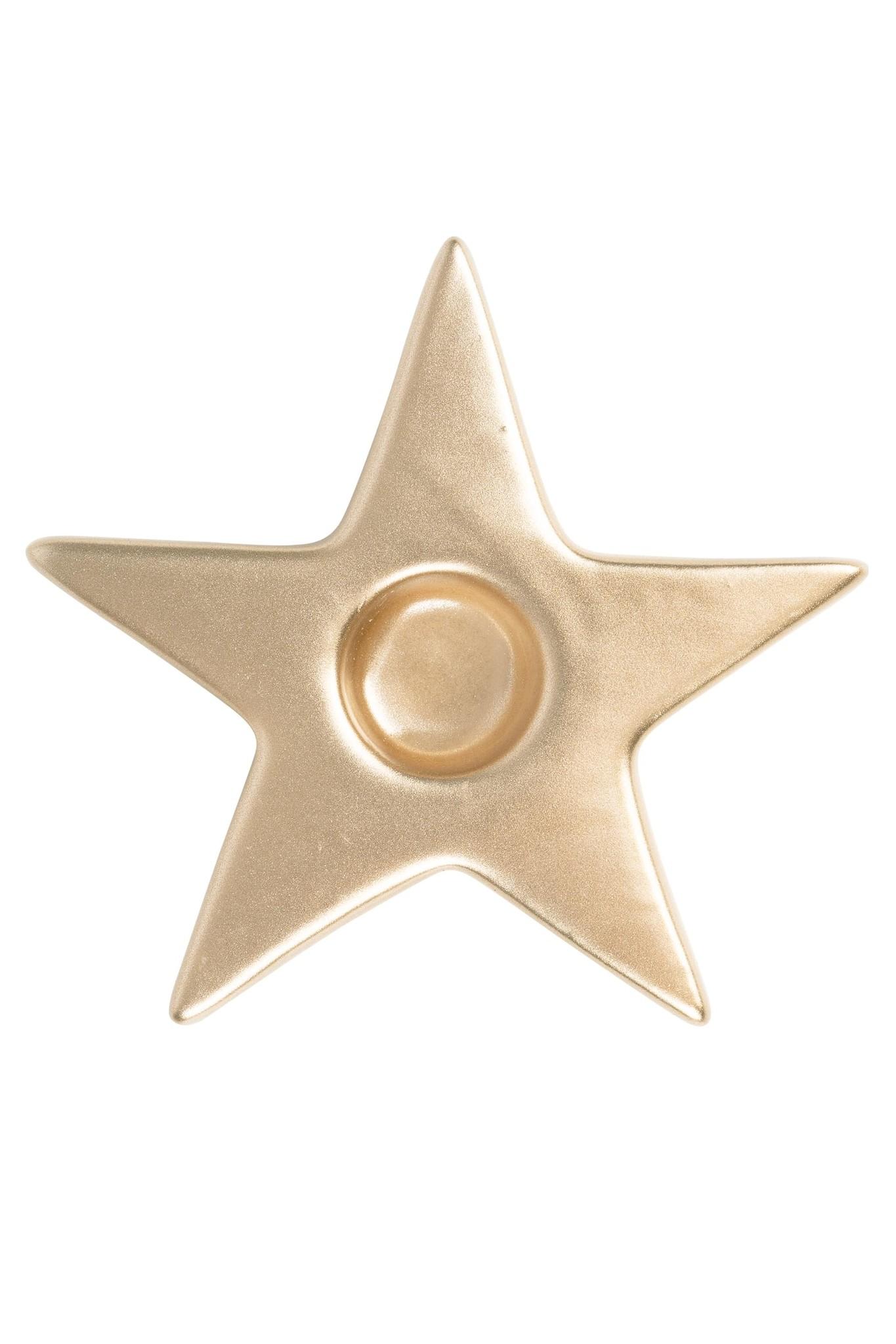 Zusss Kandelaar ster goud