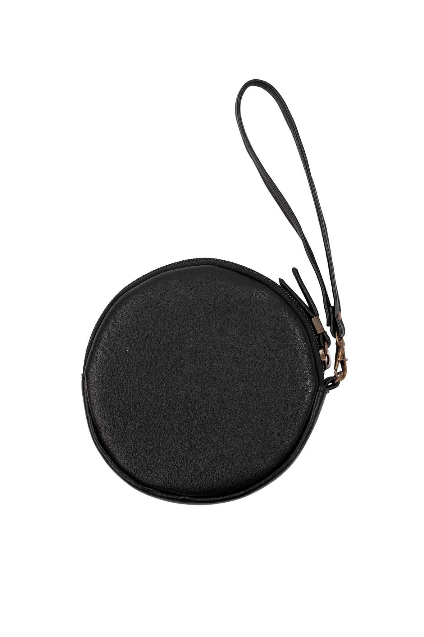 Zusss Kekke ronde clutch - zwart