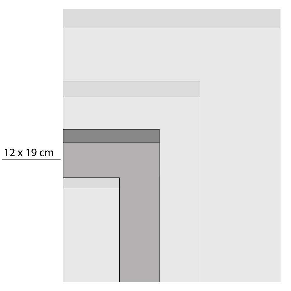 Cadeauzakjes beige/zwarte stippen 12x19cm, 5 stuks