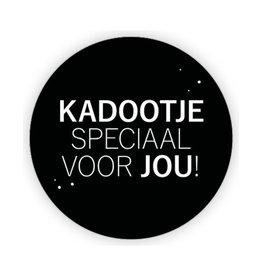 XL kadosticker kadootje speciaal voor jou! - zwart - 10 st