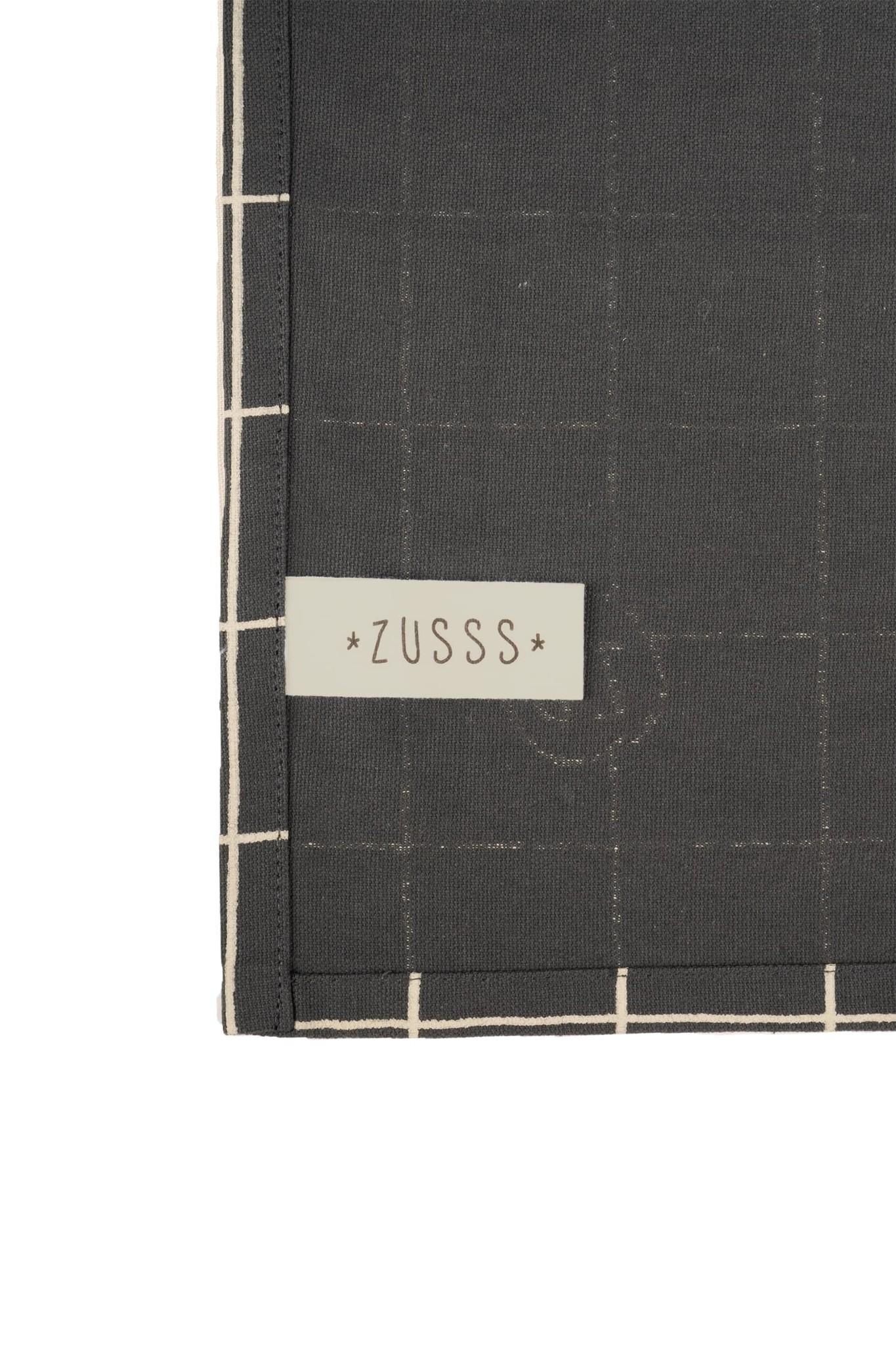 Zusss Tafelkleed geniet 300x150cm antracietgrijs