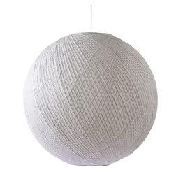 HK Living Bamboe/papieren hanglamp XL - wit