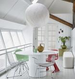 HKliving Bamboe/papieren hanglamp XL - wit