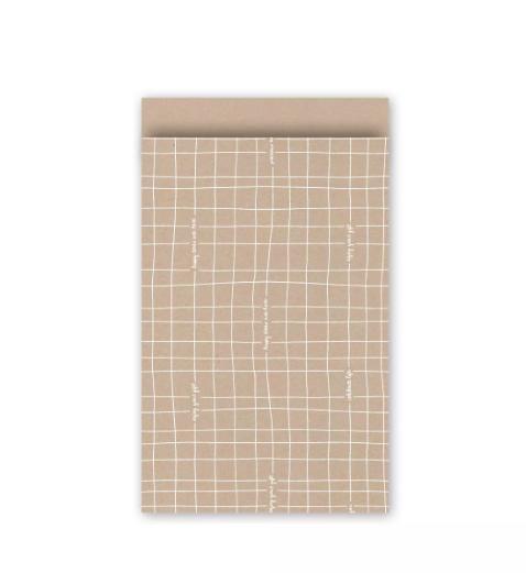 Papieren cadeauzakjes 7x13cm, 10 stuks