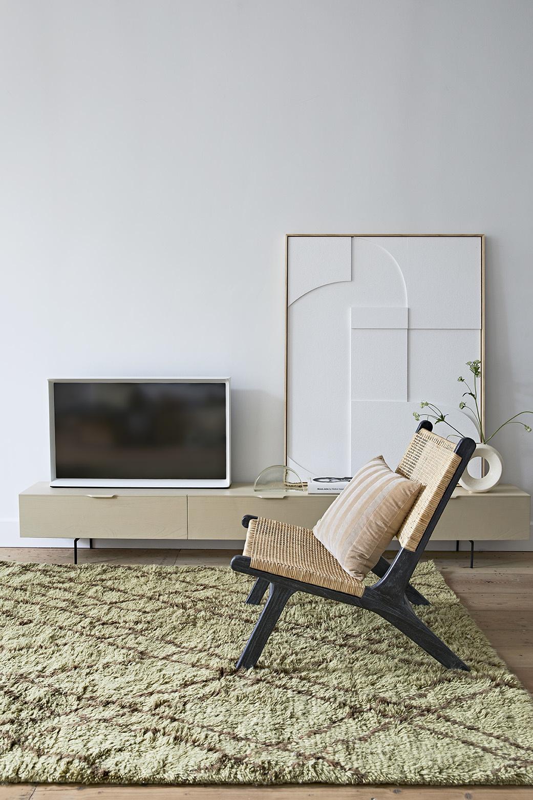HKliving Kussen fluweel 45x45cm - beige/lever