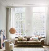 HKliving Kussen fluweel 30x50cm - bruin/naturel