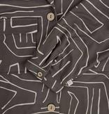 Zusss Doorknoopjurk met safariprint - grafietgrijs