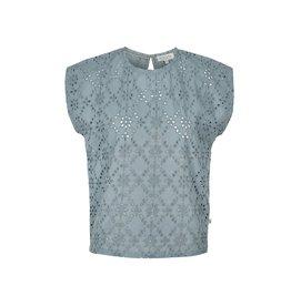 Zusss broderie blouseje - grijs-blauw