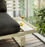 HKliving aluminium OUTDOOR loungebank - antraciet - Copy