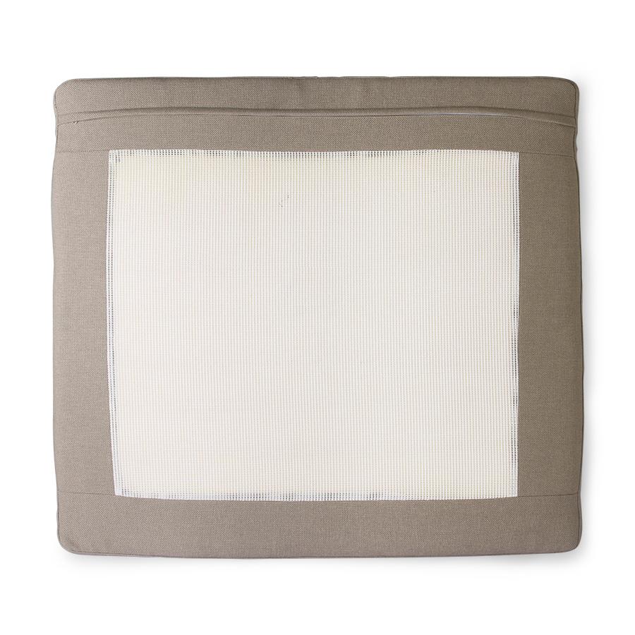 HKliving aluminium OUTDOOR kussen set- bruin