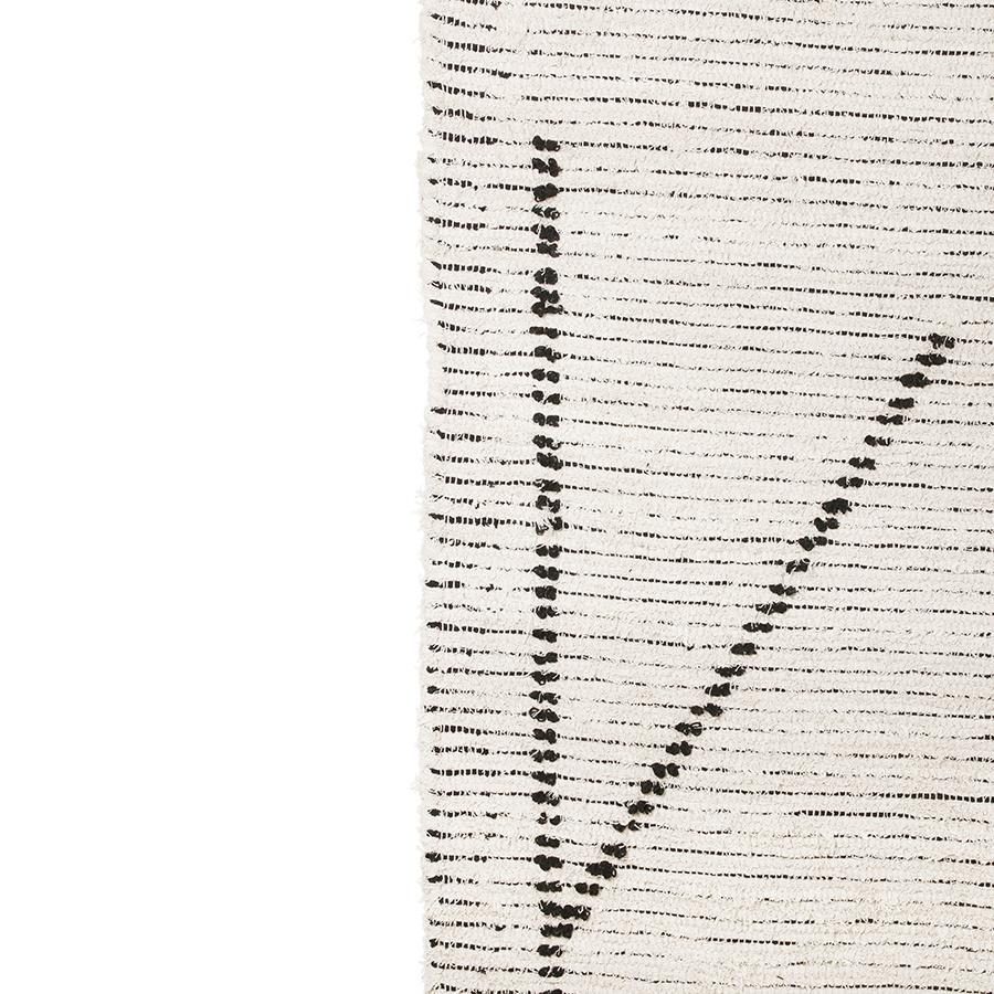 HKliving handgeweven vloerkleed 200x300cm - creme/antraciet