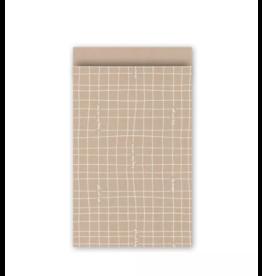 Papieren cadeauzakjes 17x25cm, 10 stuks