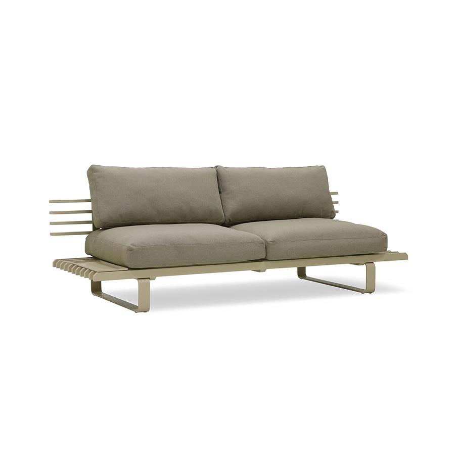 HKliving aluminium OUTDOOR loungebank - olive