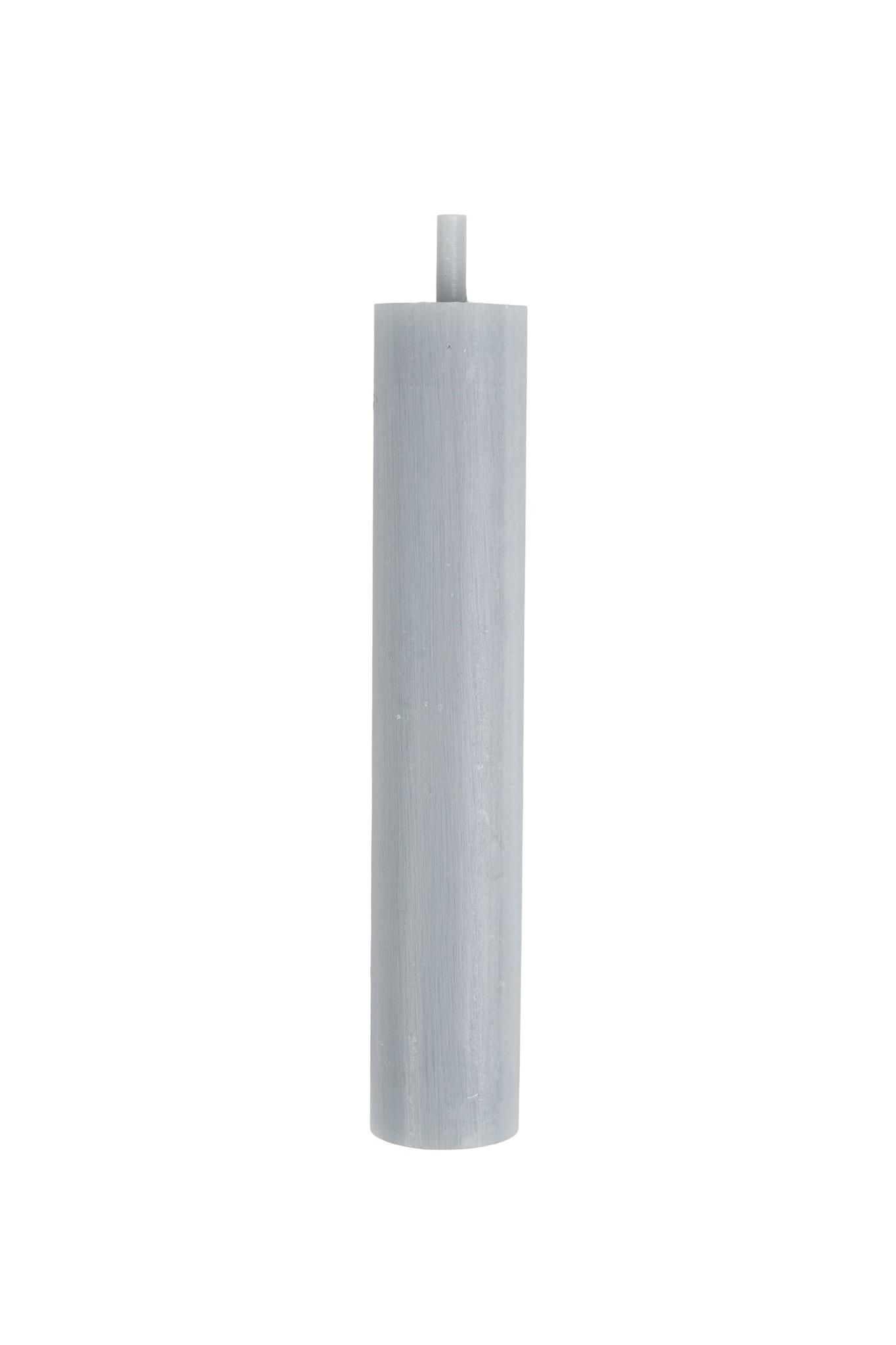 Zusss Rustieke kaars 12cm - grijs/blauw